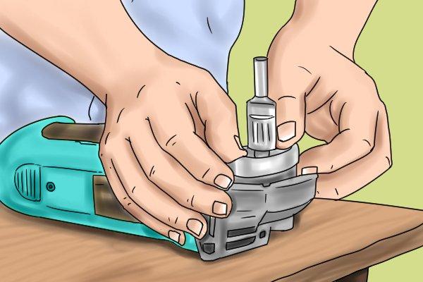 aluminium ring onto angle grinder