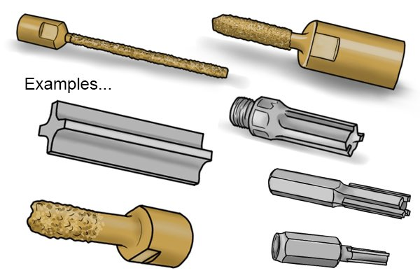 There are a variety of mortar rakes available with slight variations in their designs.