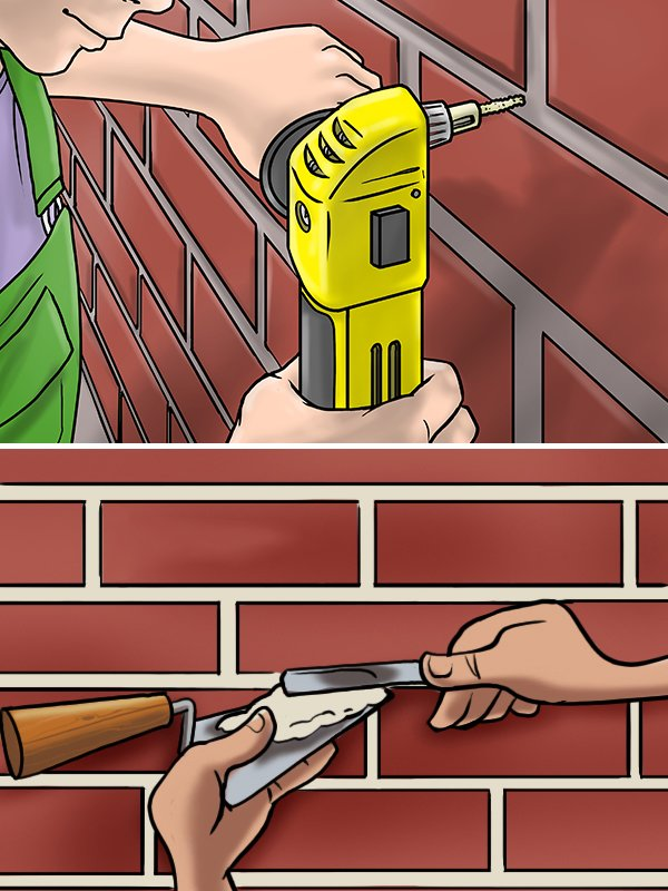 The process of removing mortar from between brick / stonework and adding in new mortar is called repointing.