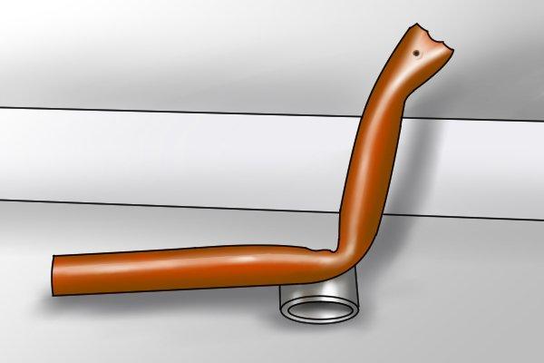 creased copper pipe, copper piping, plumbing, pipe bender, pipe bending springs
