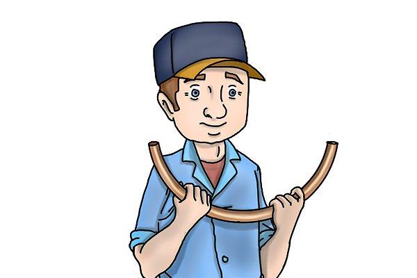 bent copper pipe, pipe bending spring, plumbers tool