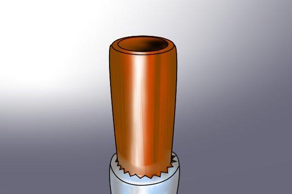 cut end of copper pipe, bent, pipe cutter, pipe bending springs, plumbing tool