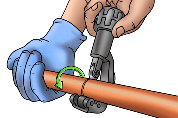 Using an adjustable pipe cutter