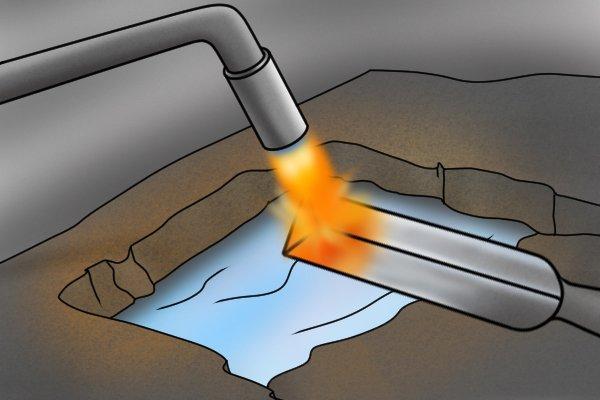 Hardened steel step 2