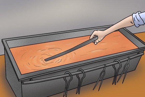 Hardened steel step 3