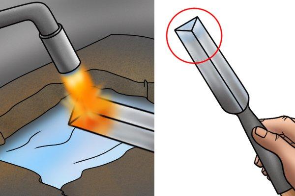 Hardened steel step 4