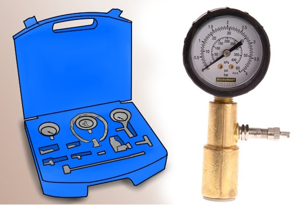 Pipe dry testing kits can come as individual parts such as the testing gauge or they are available in sets with different components or come as a wet and dry testing set. Wet testing kits test systems while they are full of water, gas or oil.