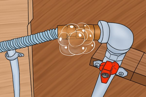 To detect a leak use a soap solution, manually apply a soap solution along the pipes and on the joints of the pipes. This method will not show how big the leak is, but will provide an indication of the location of the leak. If there is a leak, bubbles will appear.