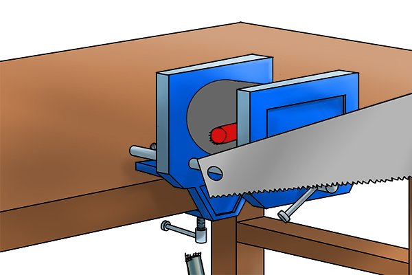 Secure paver's maul head in a vice and remove as much handle as you can with a fine toothed hand saw
