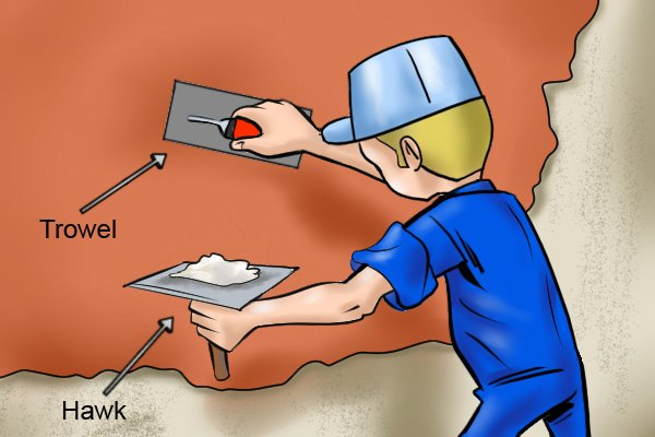 An alternative to the plaster plan is the hawk and trowel