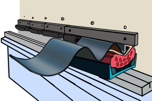 Large radius on bent sheet metal