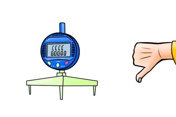 Disadvantages of a digital radius gauge