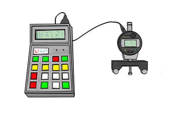 Digital radius gauge and monitor