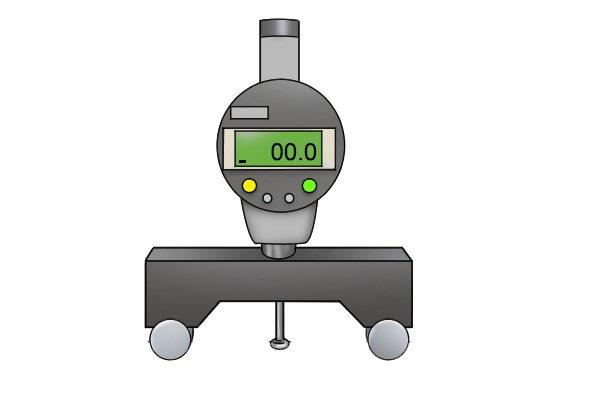 Digital radius gauge display
