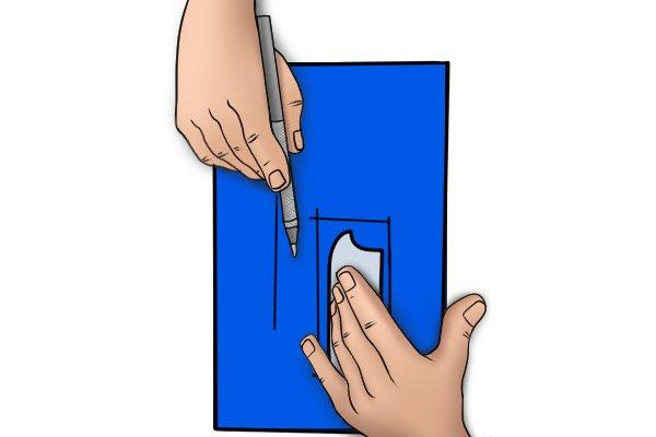 Scribing with a radius gauge