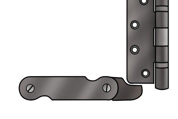 Radius gauge blade placed against radius