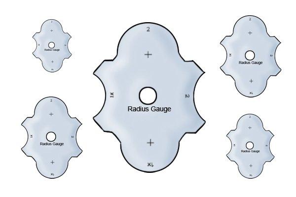 Acrylic radius gagues