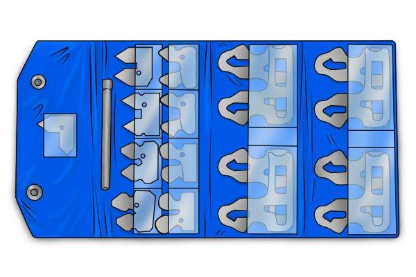 Radius gauge blade set