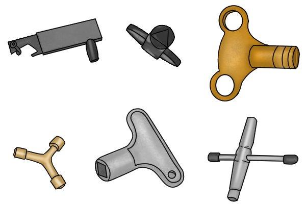 Group of radiator keys
