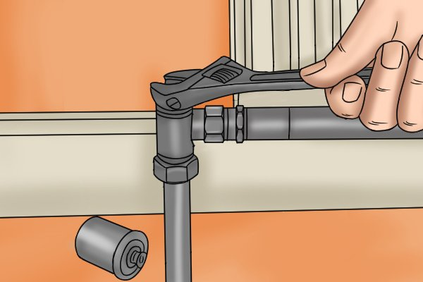Adjusting lockshield valve