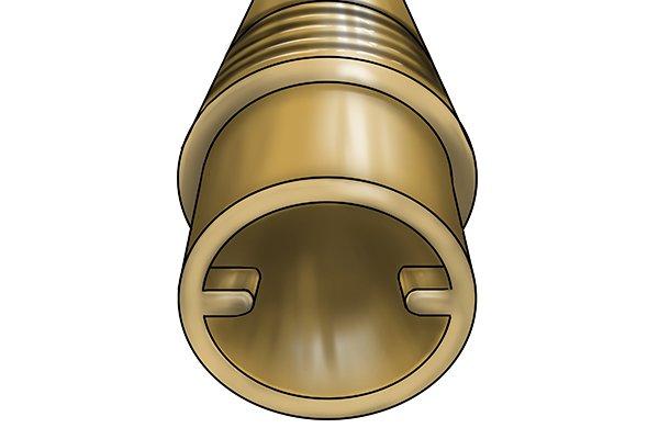 Internally lugged radiator valve tail