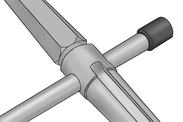 Universal radiator key with adjustable handle
