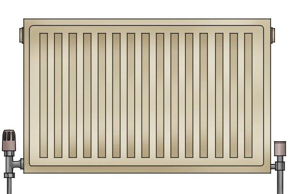 Panel radiator in situ
