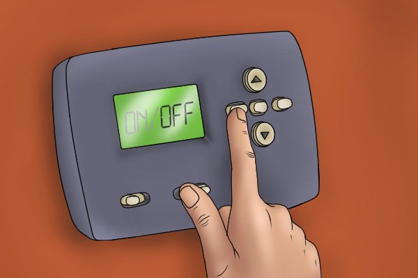 Turning off the heating system