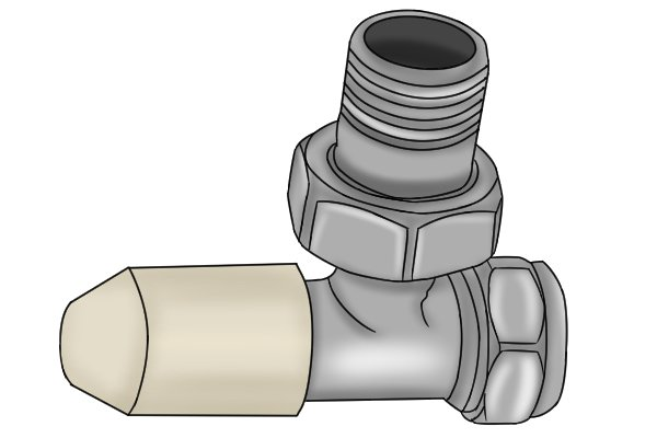 Lockshield radiator valve