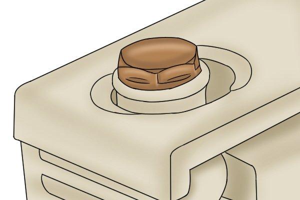 Radiator blanking plug