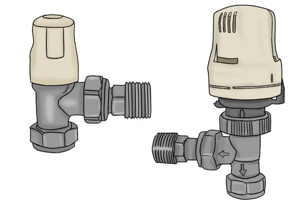 Lockshield valve and thermostat valve