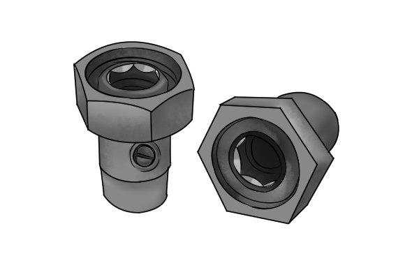 Internal hexagon valve tails