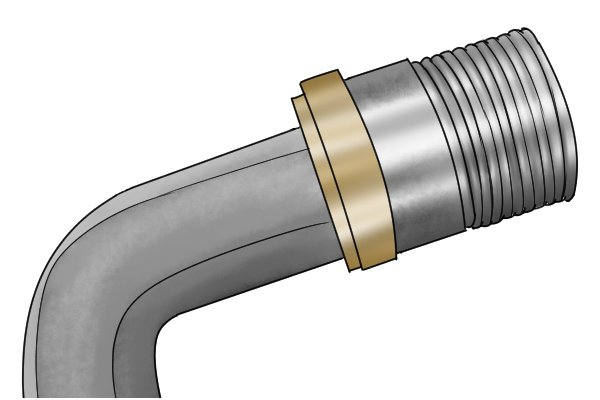 Hex key in radiator valve tail