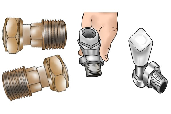 BSP threads on radiator valve parts