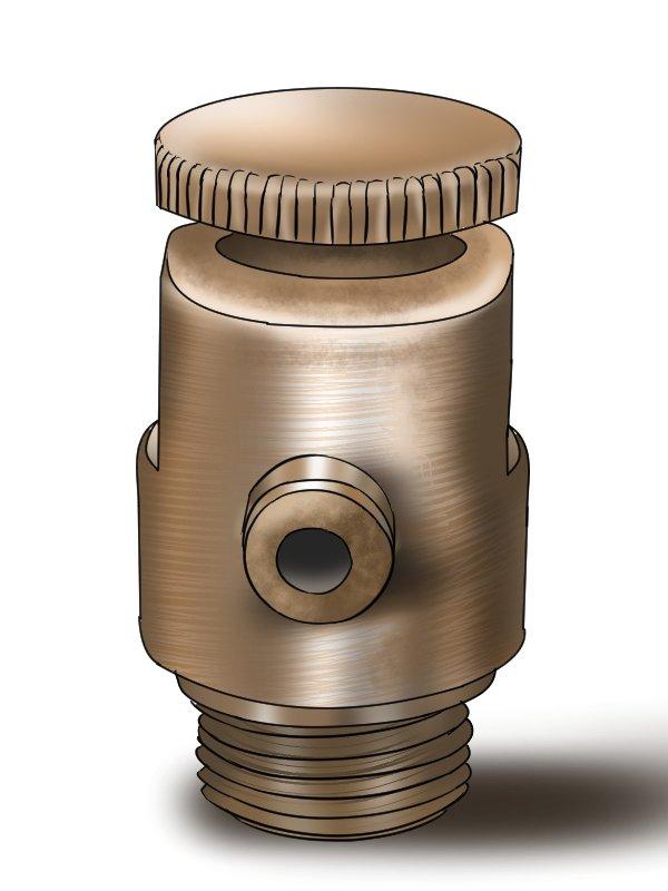 Cast iron radiator bleed valve