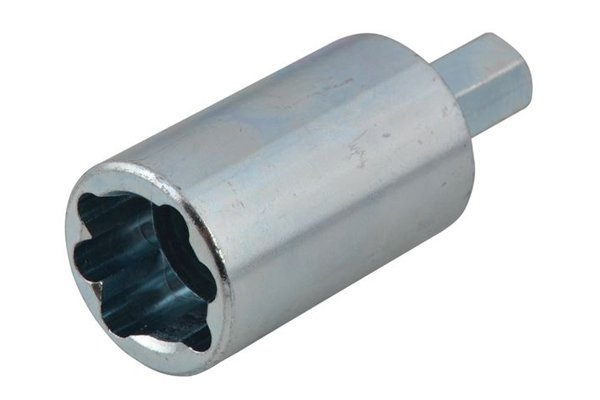 Radiator valve tail socket driver
