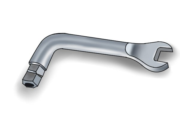 Combination radiator wrench/key