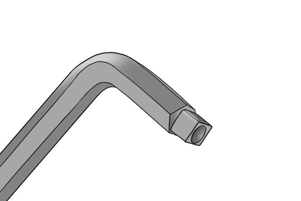 Square end of double-ended radiator key