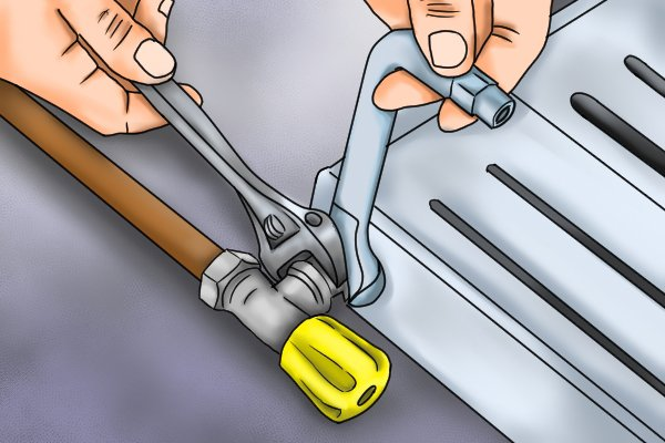 Using combination wrench-key
