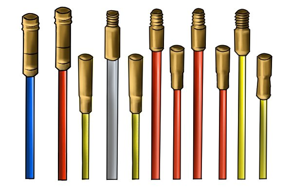 Different coloured rods of a rod set