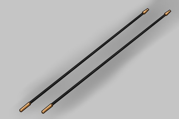Rods of a rod set each weighing 0.323kg