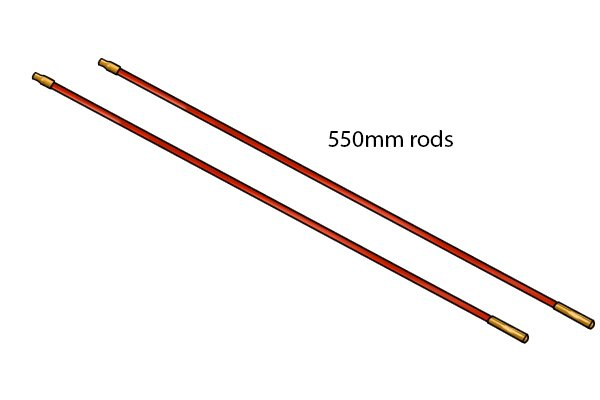A pair of replacements rods for a rod set