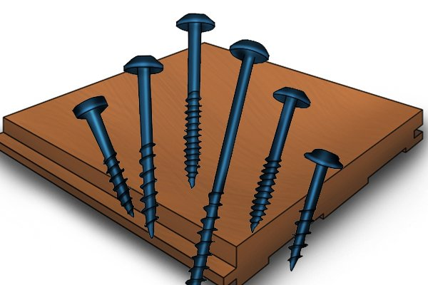Coarse threaded screws with soft materials