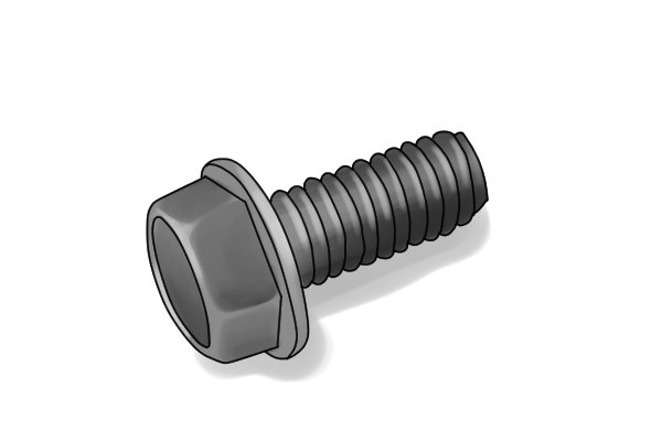 Hexagonal washer head screw