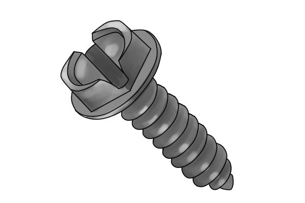 sheet metal screw with slotted drive