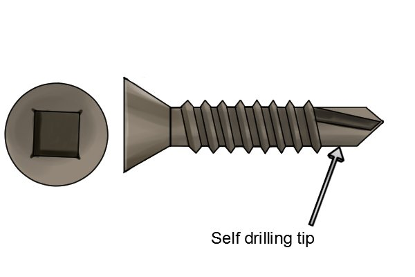 Sheet metal screw with self drilling tip