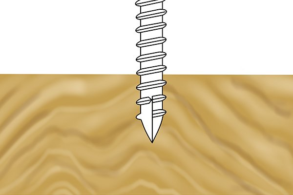 Screw with a thread cutting tip