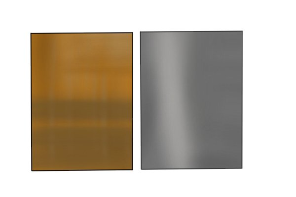 A sheet of brass and zinc