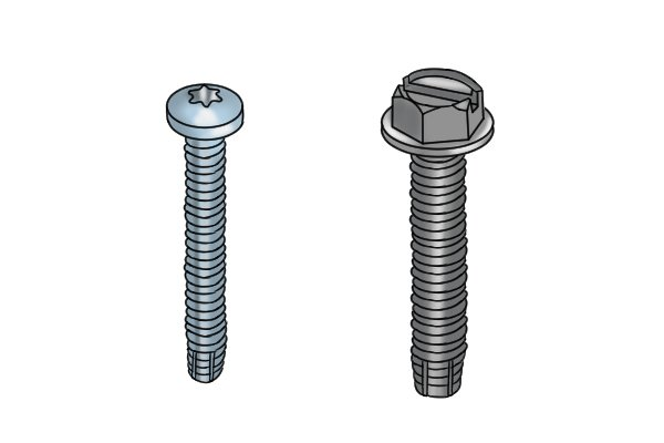 Two types of machine screw