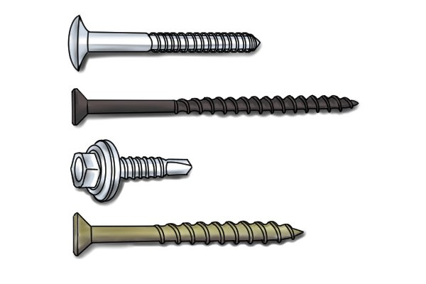 what are the different types of screws. Black Bedroom Furniture Sets. Home Design Ideas